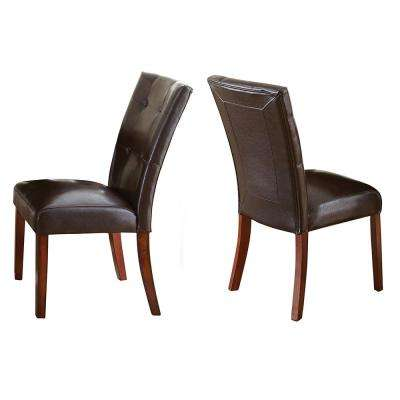 Montibello Brown Parsons Chair (Set of 2)