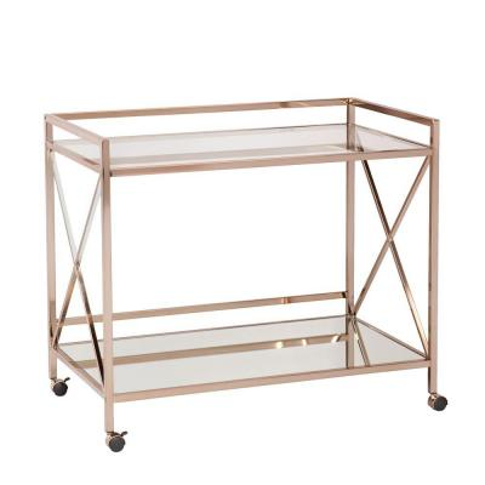 Olivia Bar Cart in Metallic Gold