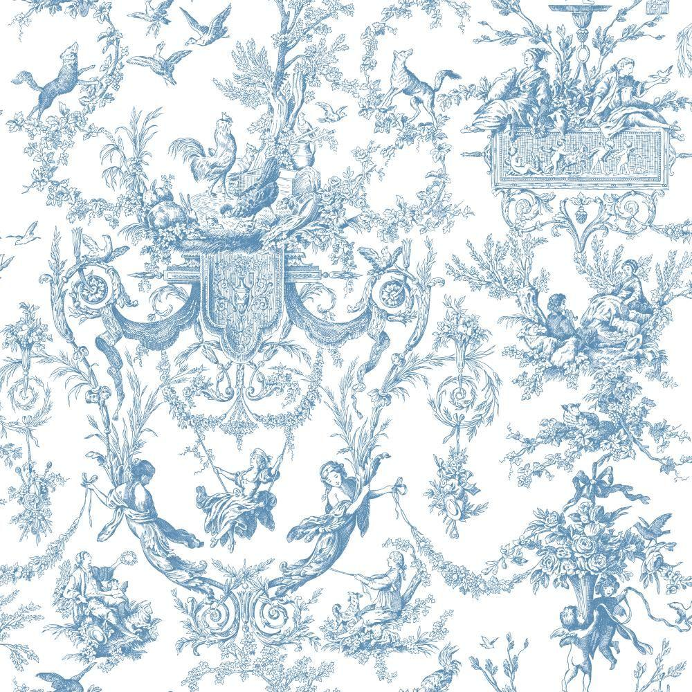 york wallcoverings old world toile wallpaper at4241 the home depot. Black Bedroom Furniture Sets. Home Design Ideas