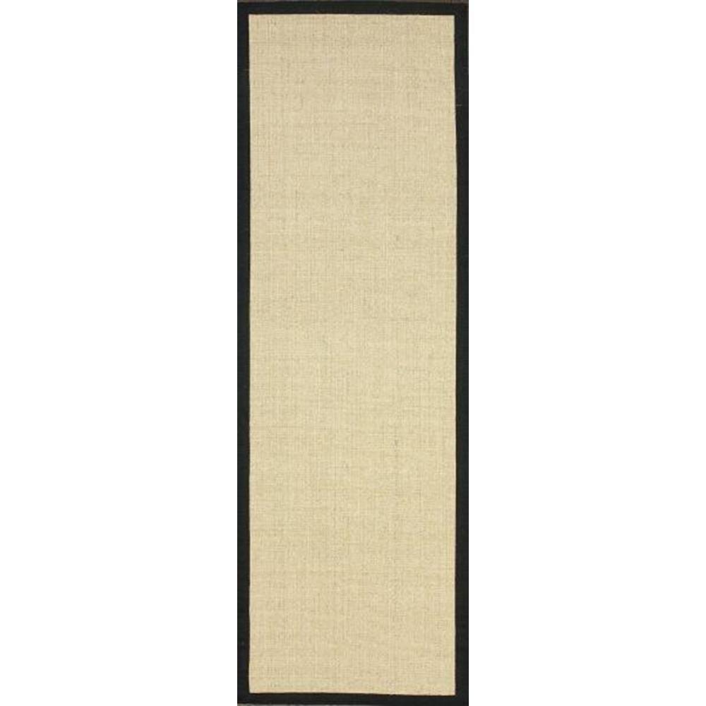 Nuloom orsay sisal black 3 ft x 10 ft runner rug zhss01a for Sisal carpet home depot