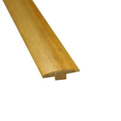 Natural 5/8 in. Thick x 2 in. Wide x 72-3/4 in. Length Strand Bamboo T-Molding