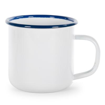 Cobalt Rolled Edge Blue 12 oz. Enamelware Coffee Mug (Set of 4)