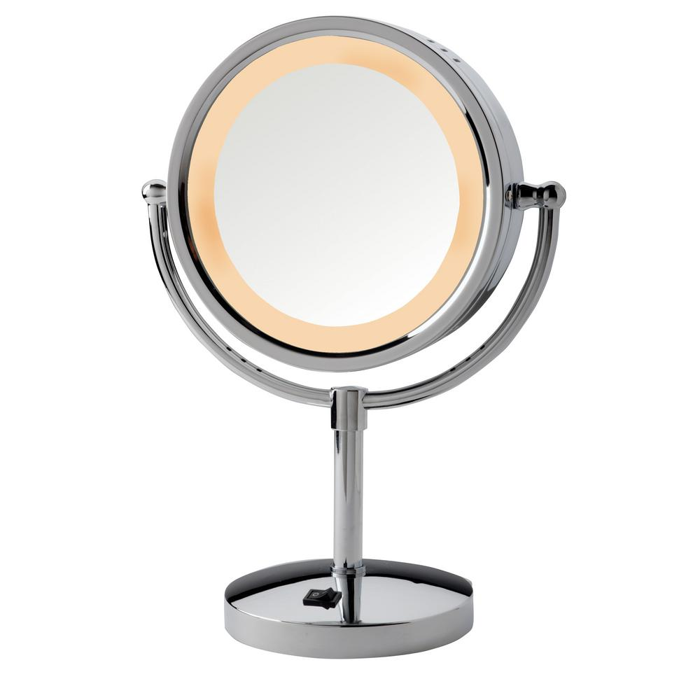 Jerdon in x 15 in lighted table mirror hl745co for Lighted mirror