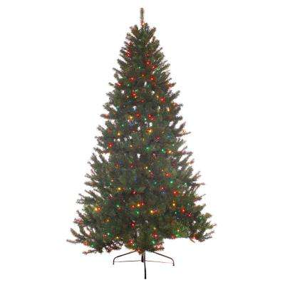 7 ft. Pre-Lit Incandescent Northern Fir Artificial Christmas Tree with 600 UL Multi Lights