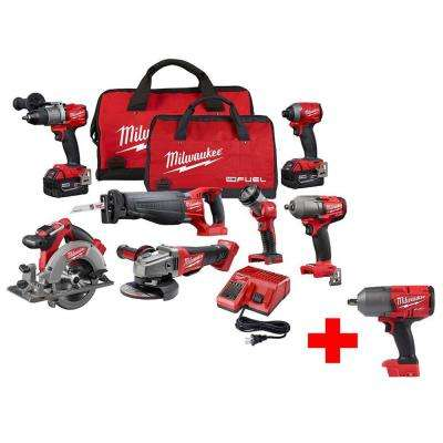 M18 FUEL 18-Volt Lithium-Ion Brushless Cordless Combo Kit (7-Tool) with Free FUEL 1/2 in. Impact Wrench