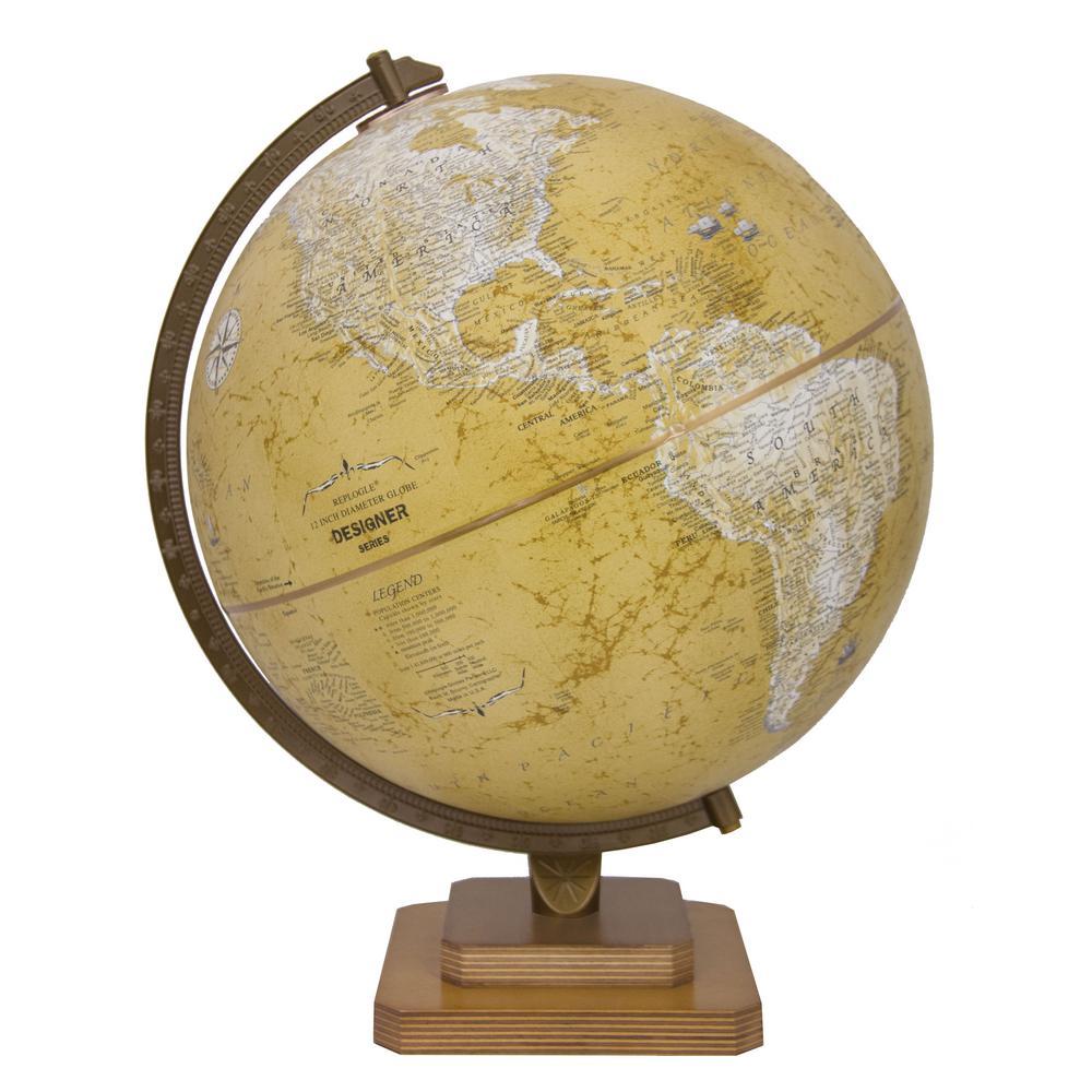 REPLOGLE Tulsa 12 in. Desk Globe, Vintage brown was $109.99 now $49.95 (55.0% off)