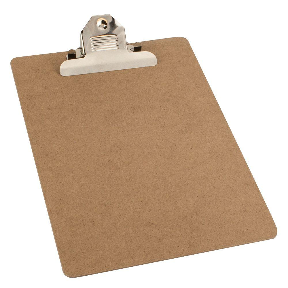 9 In. X 12 1/2 In. Brown Clipboard
