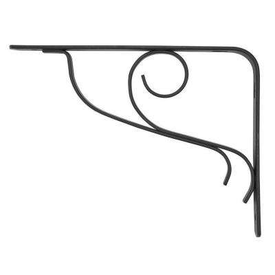 6 in. x 8 in. Black Steel Vine Decorative Shelf Bracket