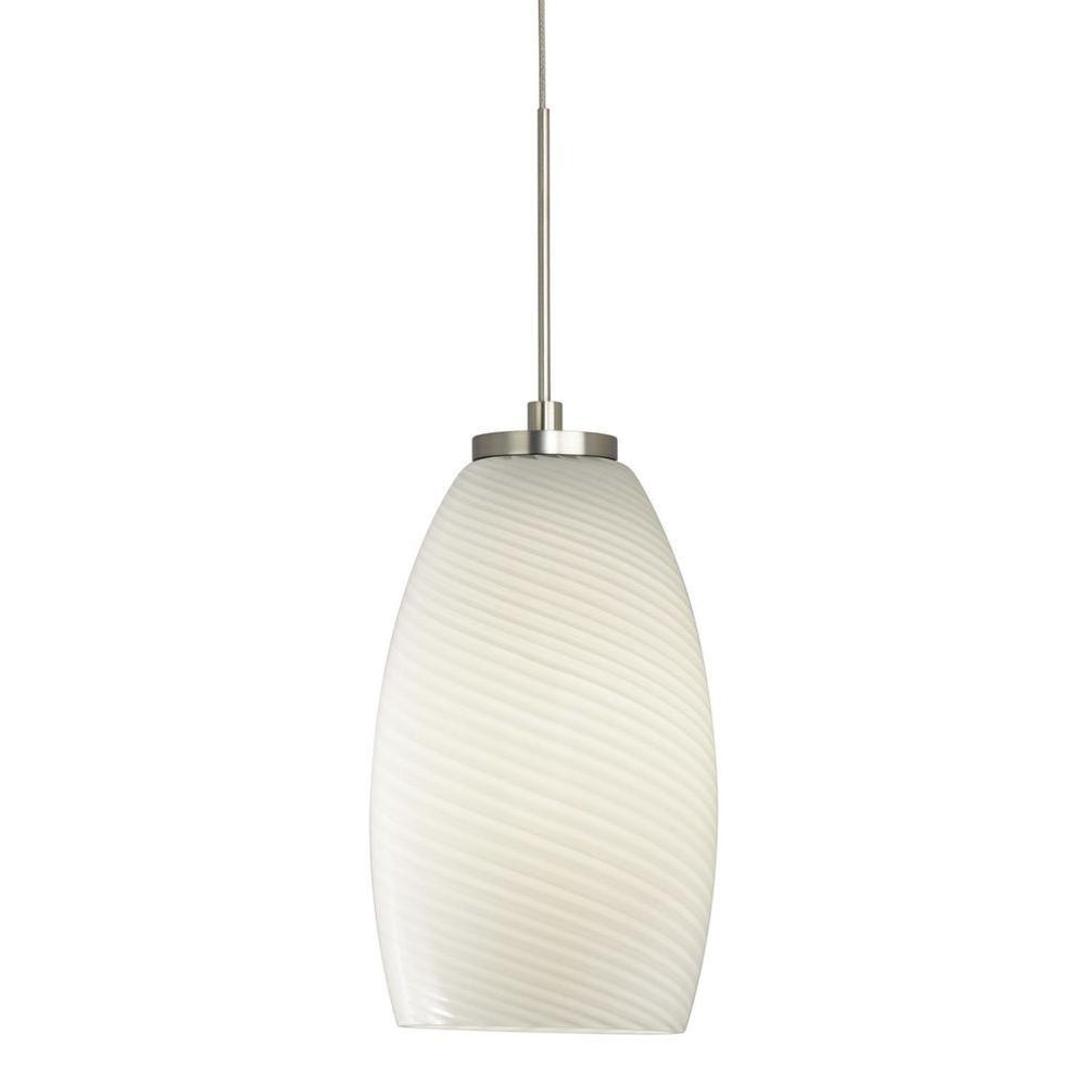 Filament Design Cypress 1-Light Satin Nickel Xenon Ceiling Pendant