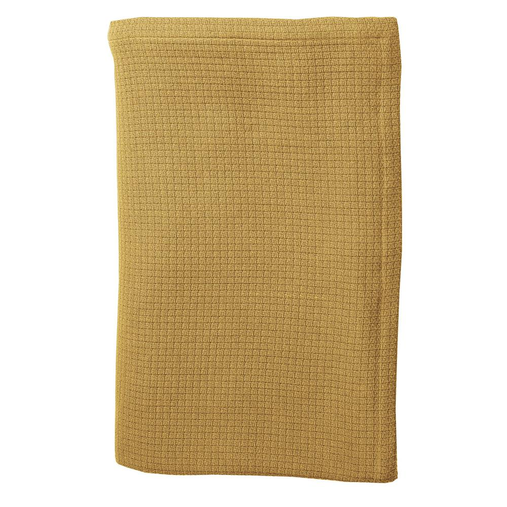 TheCompanyStore The Company Store Cotton Weave Goldenrod Twin Blanket