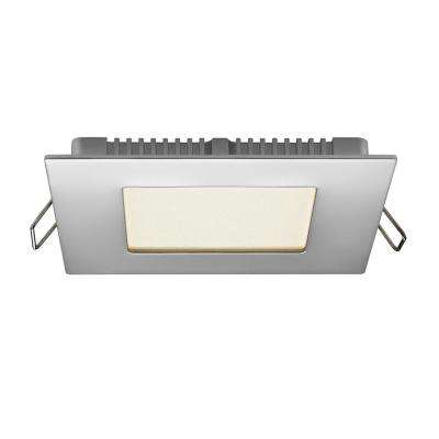 4 in. Chrome Integrated LED Recessed Kit