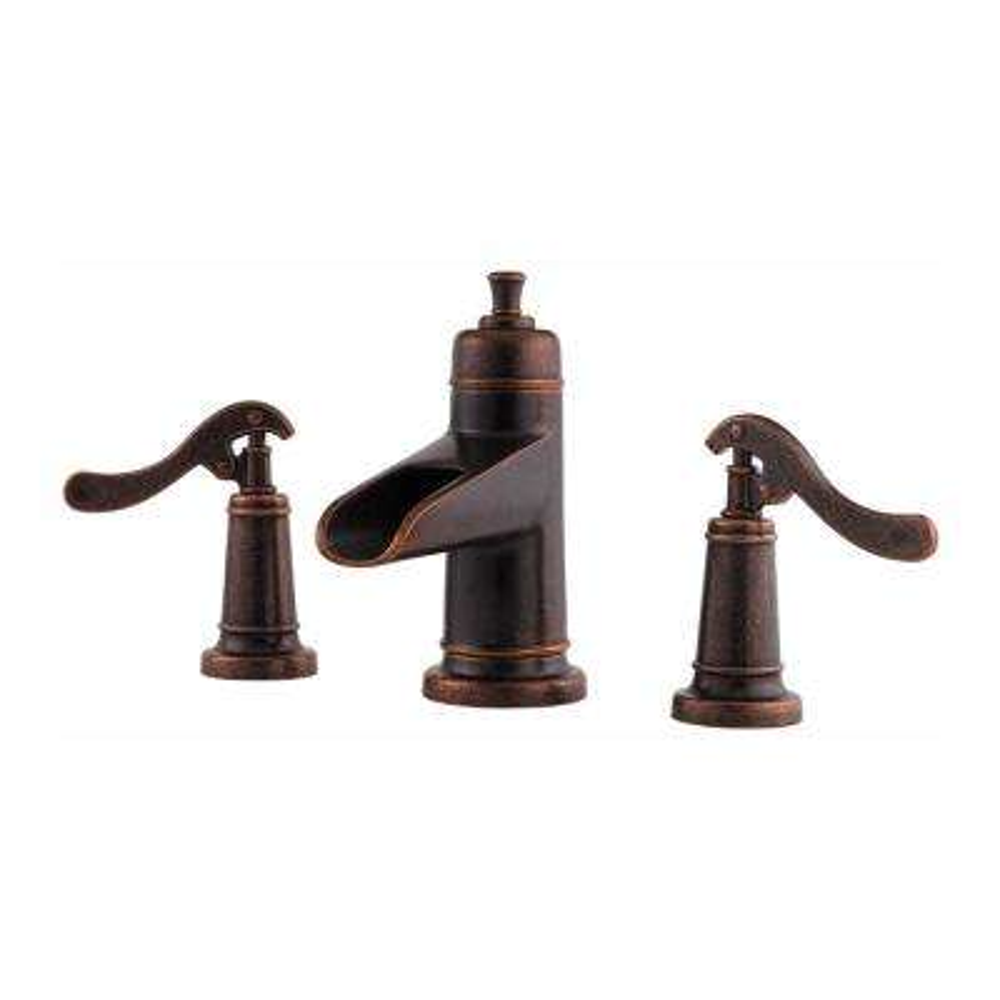 Ashfield 8 in. Widespread 2-Handle Waterfall Bathroom Faucet in Rustic Bronze
