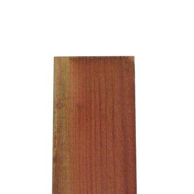 FSC ConCom 11/16 in. x 7-1/2 in. x 8 ft. Redwood Flat Top Fence Picket