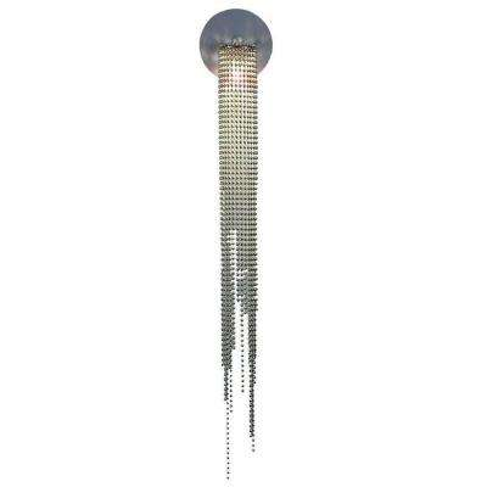 1-Light Nickel Beads Wall Sconce