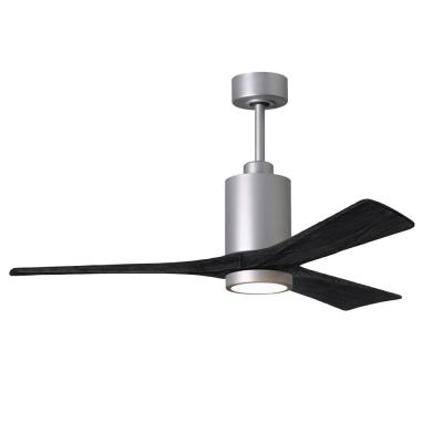 Patricia-3 52 in. Integrated LED Brushed Nickel Ceiling Fan with Light Kit