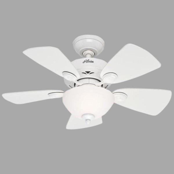 Watson 34 in. Indoor White Ceiling Fan with Light Kit