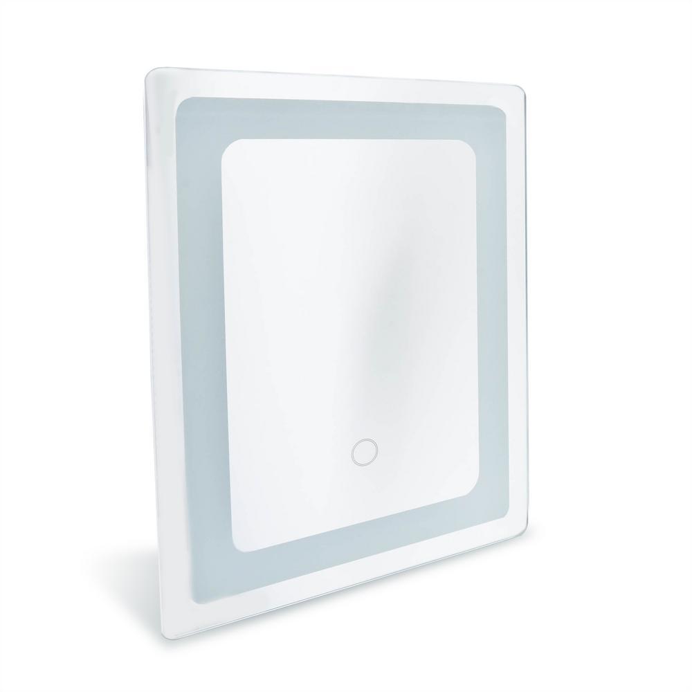Dyconn Swan 12 in. x 16 in. LED Wall Mounted Backlit Vanity Bathroom ...