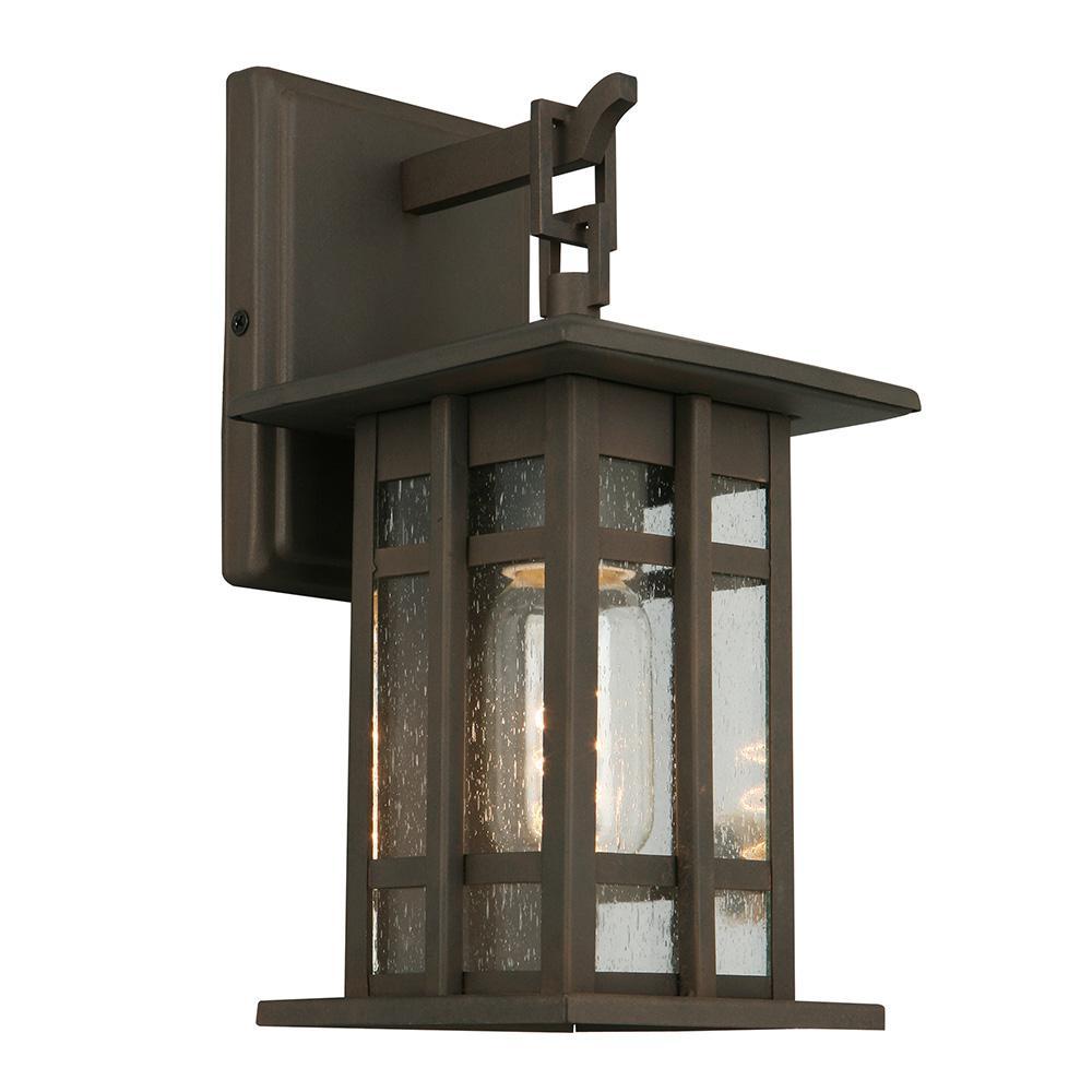 Arlington Creek 1-Light Matte Bronze Outdoor Wall Mount Lantern