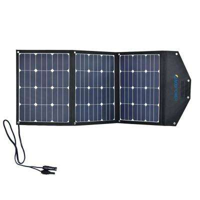 105-Watt Foldable Suitcase OffGrid Solar Panel Kit with 10-Amp Charge Controller