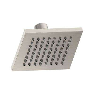 Duro 1-Spray 4 in. Square Fixed Shower Head in Satin Nickel