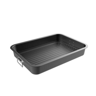 Heavy Duty Nonstick Roasting Pan with Flat Rack