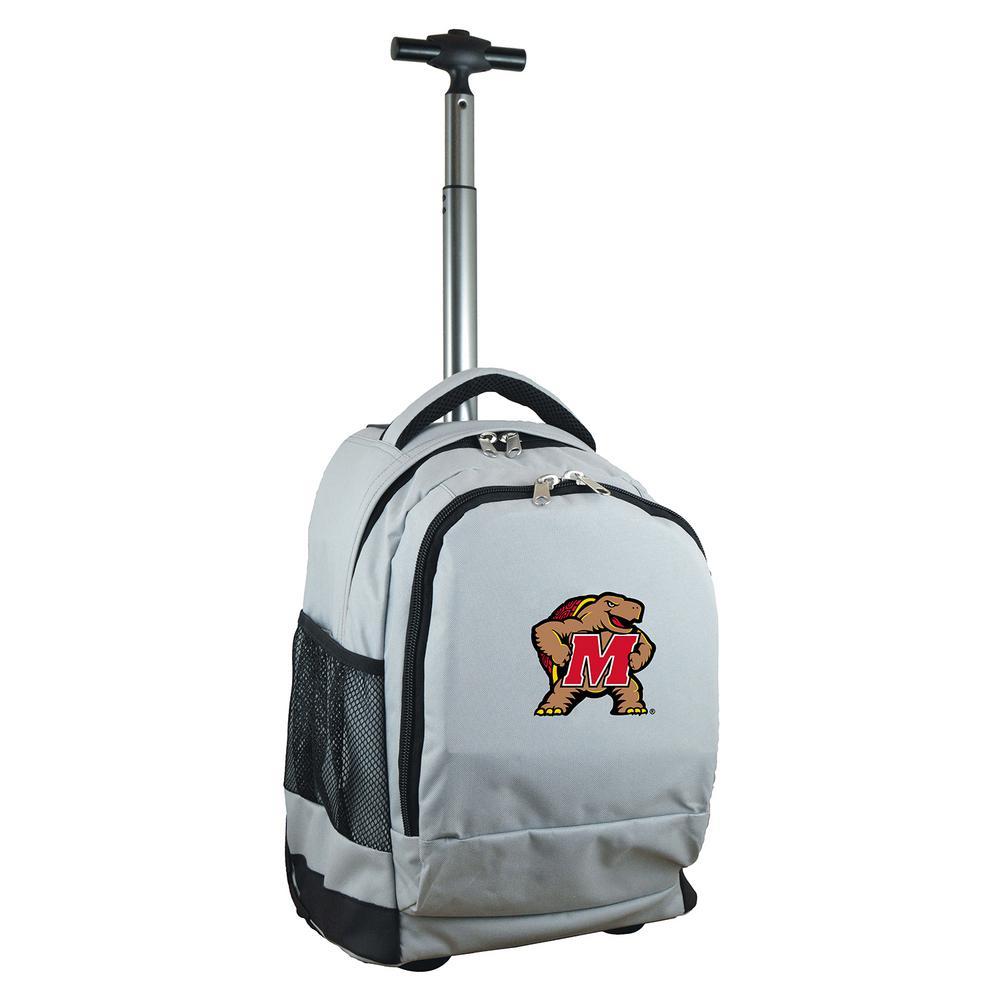 NCAA Maryland 19 in. Gray Wheeled Premium Backpack