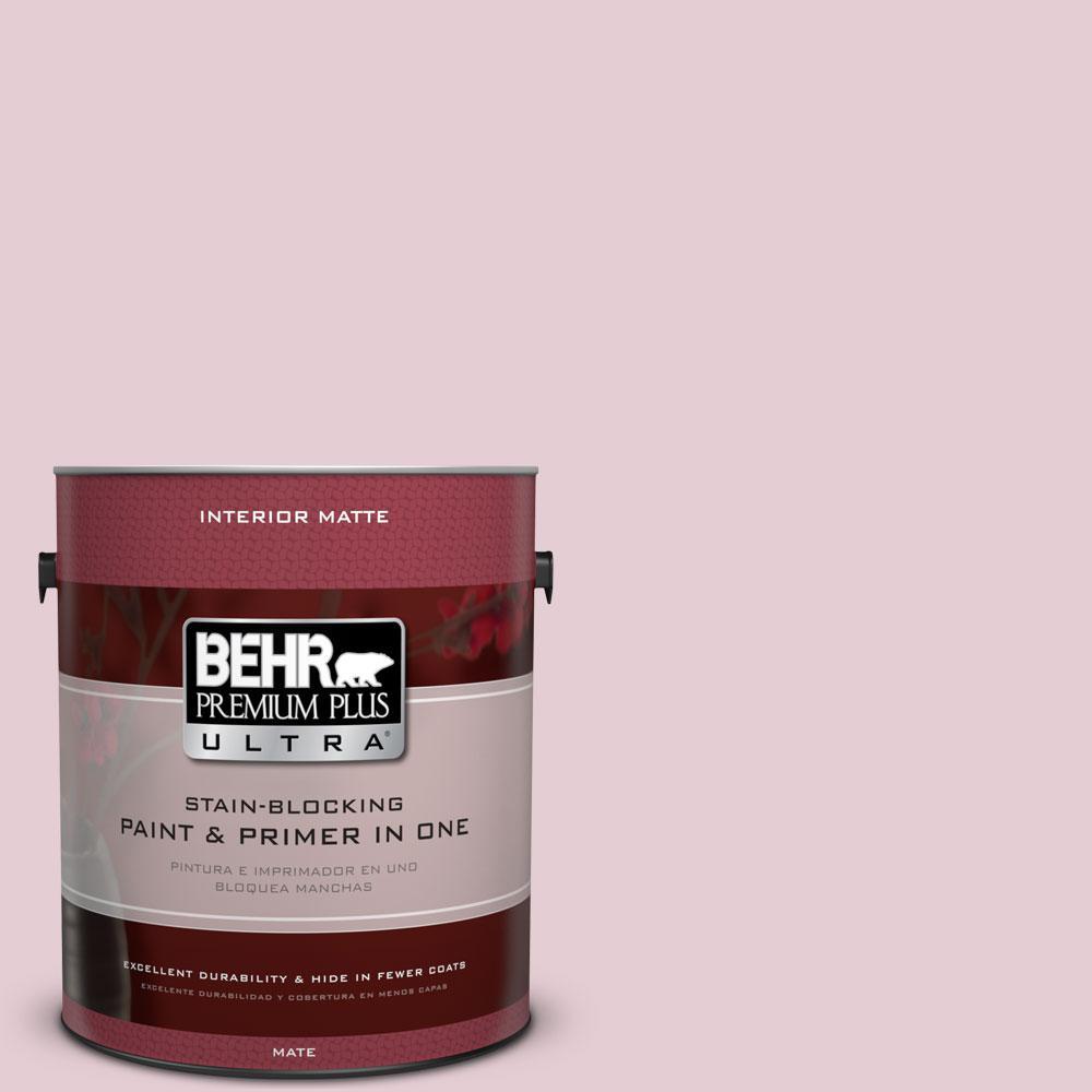 1 gal. #100C-2 Cool Pink Flat/Matte Interior Paint
