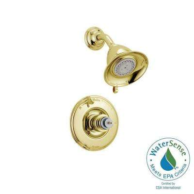 Victorian 1-Handle 3-Spray Shower Faucet Trim Kit in Polished Brass (Valve and Handles Not Included)