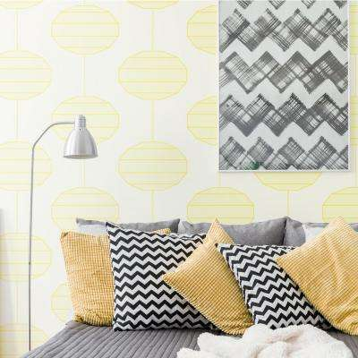 Art in Chaos Collection Paper Lanterns in Sunlight Removable and Repositionable Wallpaper