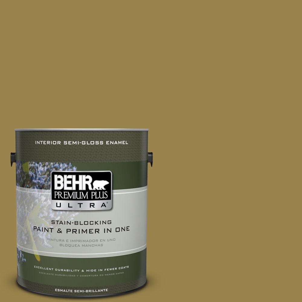 BEHR Premium Plus Ultra 1-gal. #T11-17 Wishing Troll Semi-Gloss Enamel Interior Paint
