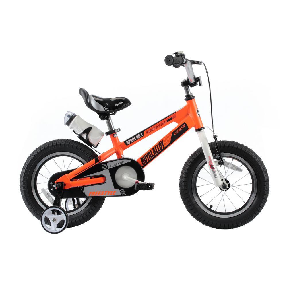 Space No. 1 Aluminum Kids Bikes 18 in. Wheels in Orange, ...