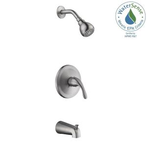 Glacier Bay Builders 1-Handle 1-Spray Tub and Shower Faucet in Brushed Nickel (Valve Included) by Glacier Bay