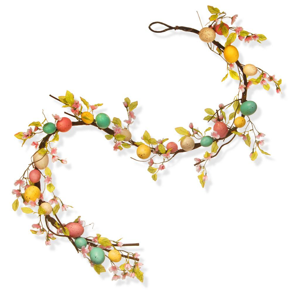 National Tree Company 72 In Easter Egg Garland Rae 15532g6 The Home Depot