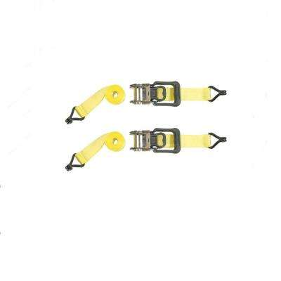 2 in. x 14 ft. Heavy Duty Ratchet Buckled Strap (2-Pack)