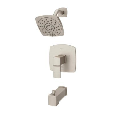 Deckard 1-Handle Tub and Shower Faucet Trim Kit in Brushed Nickel (Valve Not Included)