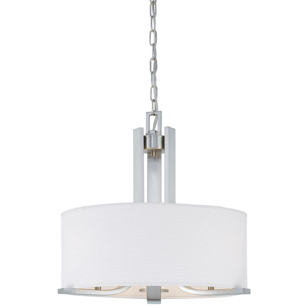 Thomas Lighting Pendenza 3 Light Brushed Nickel Chandelier