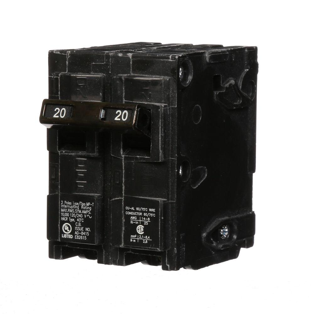 Murray 20 Amp Double-Pole Type MP-Circuit Breaker-MP220U - The Home ...