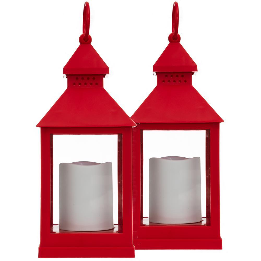 kieragrace KG Red 2pk Flickering lantern