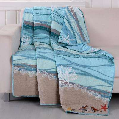 Maui Multi Quilted Cotton Throw