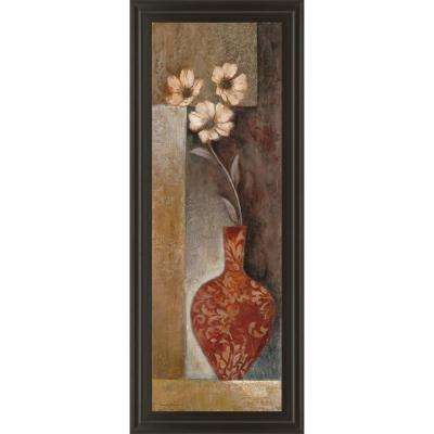 "18 in. x 42 in. ""Baroque Floral II"" by Rosie Abrahams Framed Printed Wall Art"