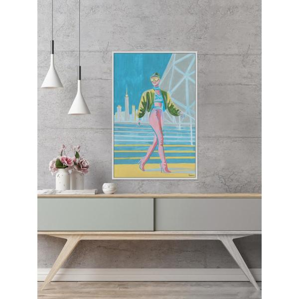 45 In H X 30 In W Pop Of Colors By Parvez Taj Framed Canvas Wall Art Julosu 802wff45 The Home Depot