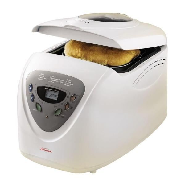 2 lb. White Programmable Bread Maker with Jam Setting