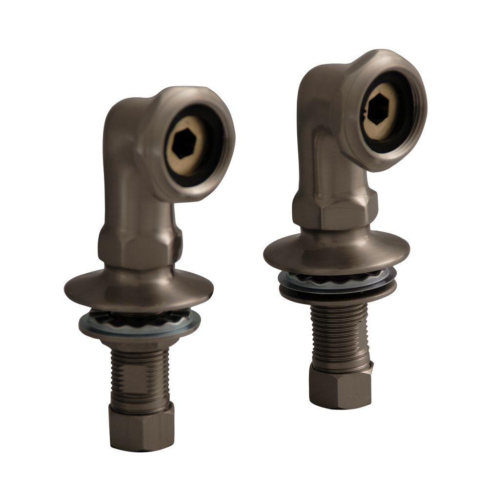 Barclay Products 2 in. Brass Deck Mount Coupler in Brushed Nickel