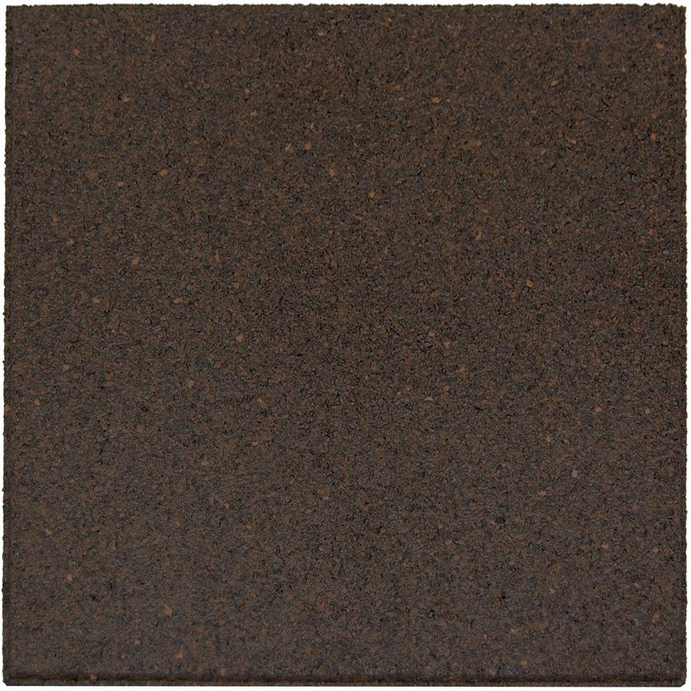 Envirotile 18 in. x 18 in. Earth Rubber Flat Profile Paver