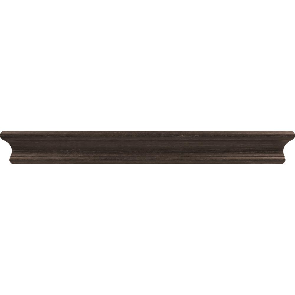 18 in. Espresso Tool Free Floating Shelf