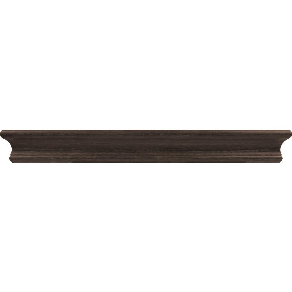 18 in. Espresso Tool Free Floating Shelf