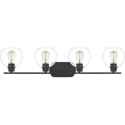 Pruitt 4-Light Matte Black Vanity Light