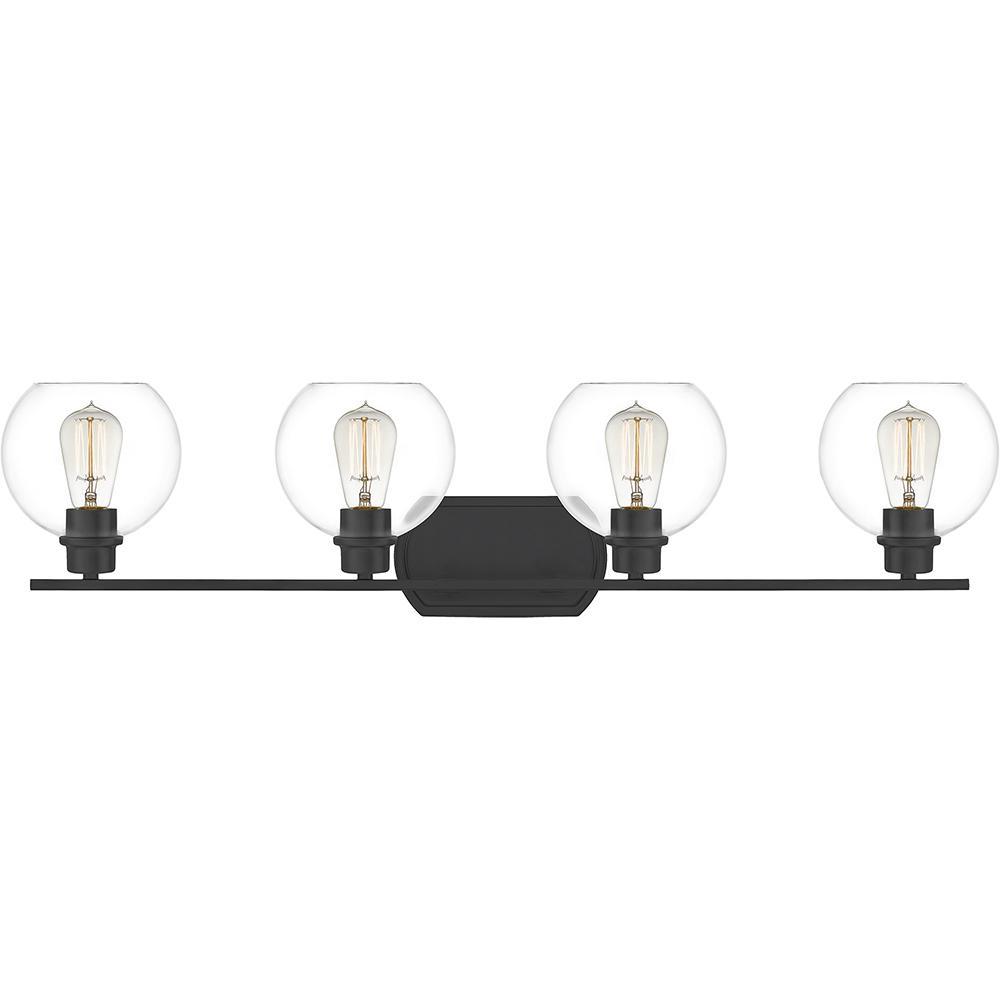 Pruitt 4-Light Matte Black Vanity Light