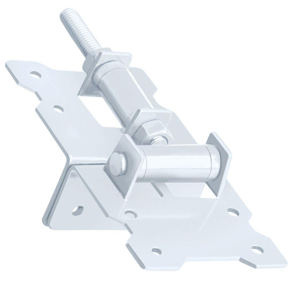 White Stainless Steel Self Closing Corner Hinge