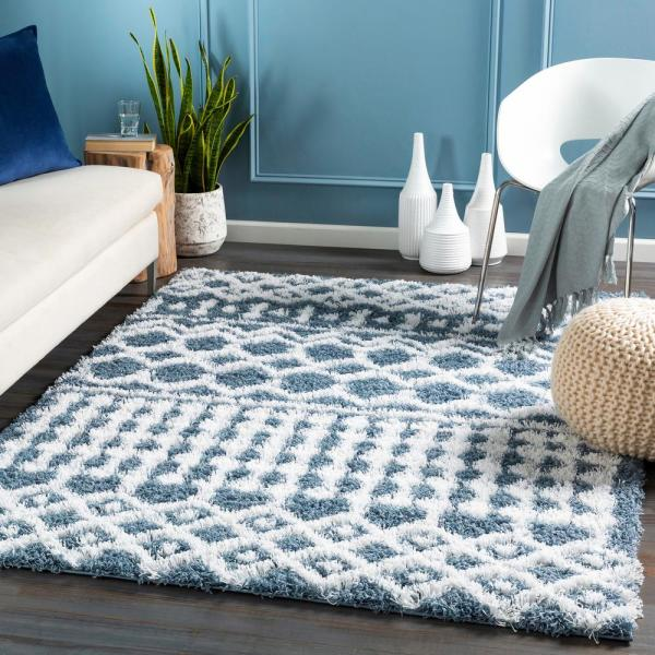Artistic Weavers Briar Blue 7 Ft 10 In X 10 Ft 2 In Area Rug S00161023086 The Home Depot